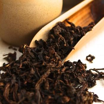A scoop of Songboling Shui Xian Oolong Tea