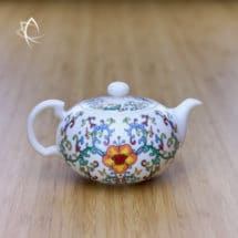 Elegant Teapot with Peony Motif Featured View