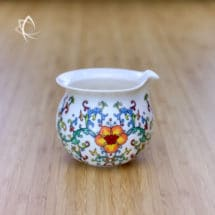Handleless Tea Pitcher with Peony Motif Featured View