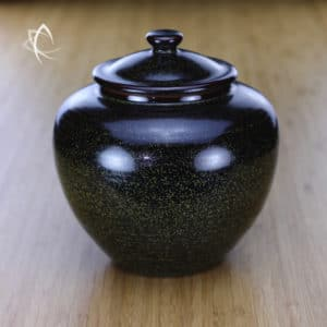Black Speckle Glaze Larger Tea Conservation Urn Featured View