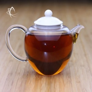 Glass Teapot with Ivory Porcelain Lid Featured View
