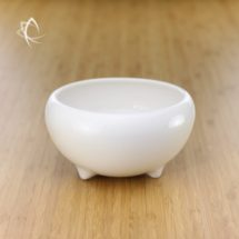 Refined Tea Refuse Jar in Ivory Porcelain