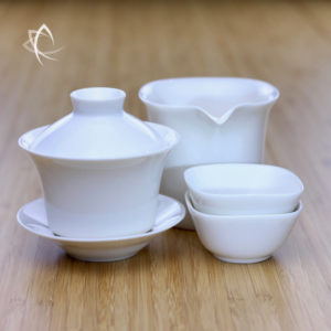 Classic Gaiwan and Small Calla Pitcher with square cups