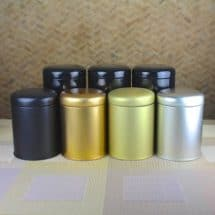 Mat Metallic Tea Caddies
