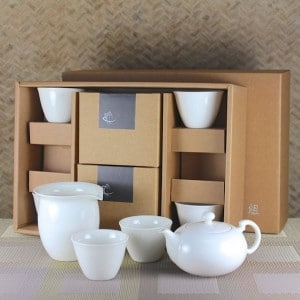 Elegant Tea Set for Six with Tulip Tea Cups