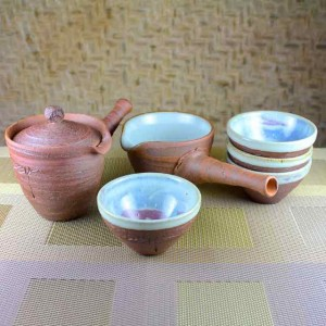 Smaller Kyusu Teapot and Pitcher Set with Low Cups