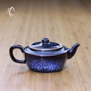 Blue Hare's Fur Ping Jian Teapot Featured View