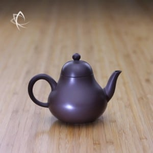 Small Pear Shaped Purple Clay Teapot Featured View