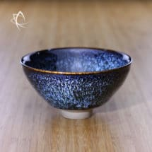 Blue Hare's Fur Chawan Featured View