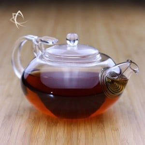 Larger Glass Teapot Angled View