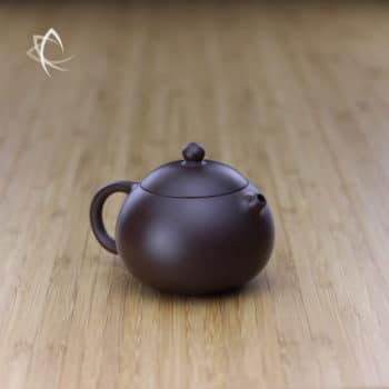 Small Xi Shi Purple Clay Teapot Angled View