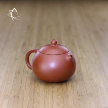 Small Xi Shi Red Clay Teapot Angled View