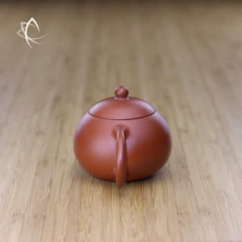 Small Xi Shi Red Clay Teapot Handle View
