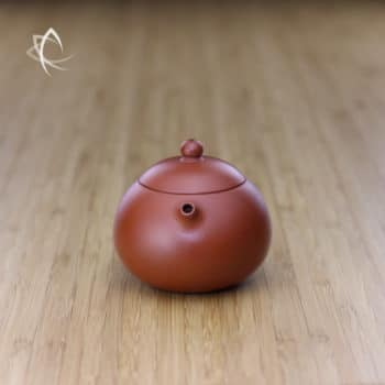 Small Xi Shi Red Clay Teapot Spout View