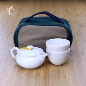 Everyday Tea Travel Set for Two Close-up View