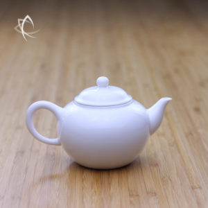 Ivory Porcelain Smaller Shui Ping Teapot Featured View