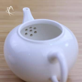 Ivory Porcelain Smaller Shui Ping Teapot Inside View