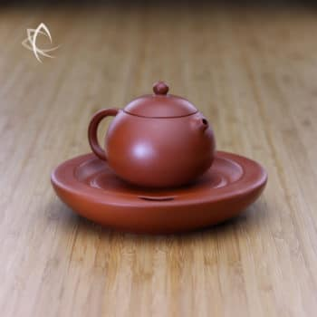 Small Xi Shi Red Clay Teapot with Tea Boat