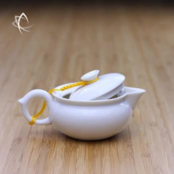 Smaller Beaked Everyday Teapot Lid Open View