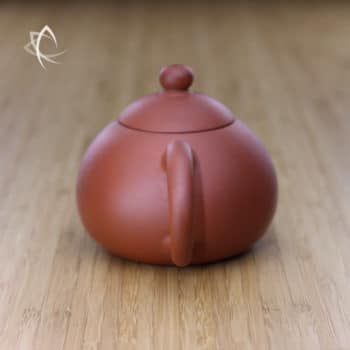 Larger Xi Shi Red Clay Teapot Handle View