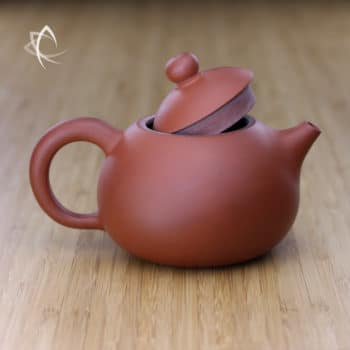 Larger Xi Shi Red Clay Teapot Lid Off View