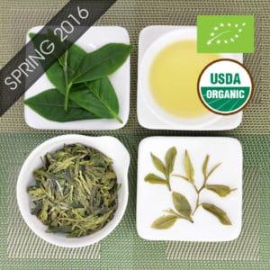 Organic Fragrant Jade Longjing Style Green Tea with logo