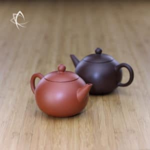 Pocket Yuan Zhu Teapots Red and Purple Clay Featured View