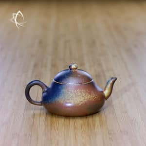 Ash Glazed Stubby Pear Shaped Teapot Featured View