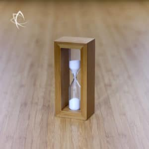 Bamboo Hourglass Timer Angled View