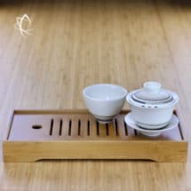 Low Profile Longer Size Bamboo Tea Tray Featured View