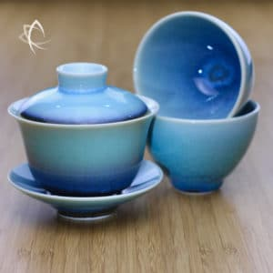 Topaz Hare's Fur Gaiwan with Refined Tea Cup Featured View