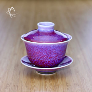 Vermillion Oil Spot Tianmu Glazed Gaiwan Featured View