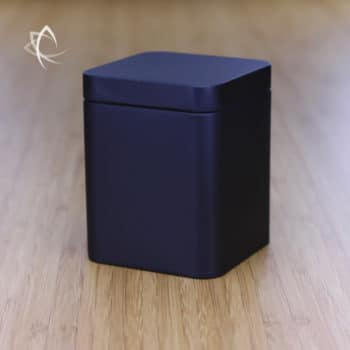 Black Square Tea Caddie Featured View