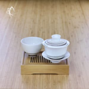 Low Profile Office Desk Bamboo Tea Tray Featured View