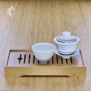 Low Profile Travel Size Bamboo Tea Tray Featured View