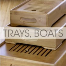 Tea Boats, Trays and Plates