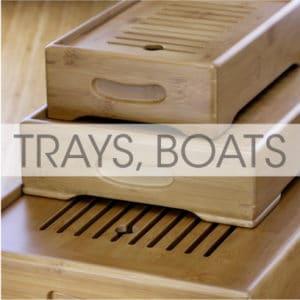 Tea Boats, Trays and Plates