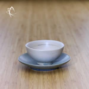 Beige Ju Pi Half Moon Tea Cup with Saucer Featured View