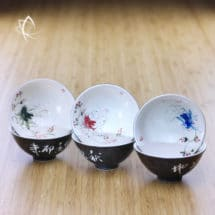 Hand Painted Carp Fish Tea Cup Set Featured View