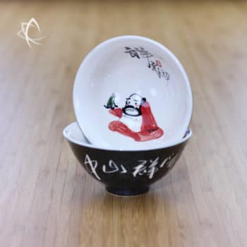 Hand Painted Luohan Tea Cup Design 1