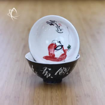 Hand Painted Luohan Tea Cup Design 5