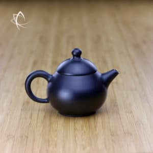 Hand Thrown Black Pear Shaped Teapot Featured ViewHand Thrown Black Pear Shaped Teapot Featured View
