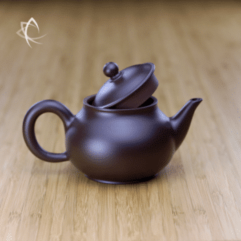 Hand Thrown Elegant Purple Clay Teapot Lid Open View