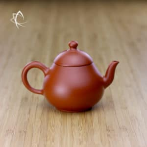 Hand Thrown Pear Shaped Red Clay Teapot Featured View