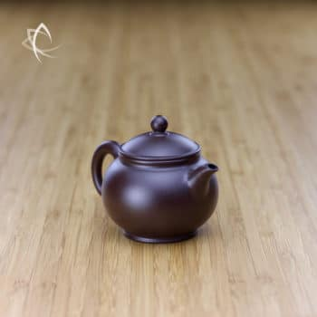 Hand Thrown Small Round Teapot Angled View
