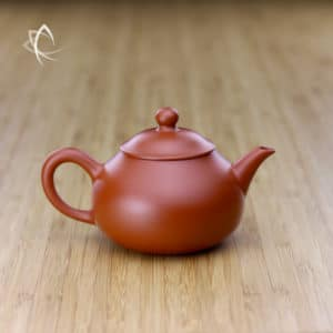 Hand Thrown Stubby Pear Shaped Red Clay Teapot Featured View