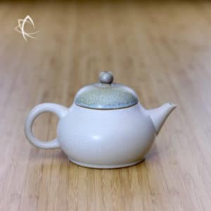 Slate Beige Ju Pi Guava Shaped Teapot Featured View
