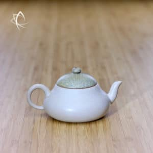 Slate Beige Ju Pi Stubby Pear-Shaped Teapot Featured View
