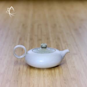 Slate Cream Ju Pi Small Flat Teapot Featured View