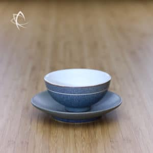 Slate Grey Ju Pi Half Moon Tea Cup with Saucer Featured View